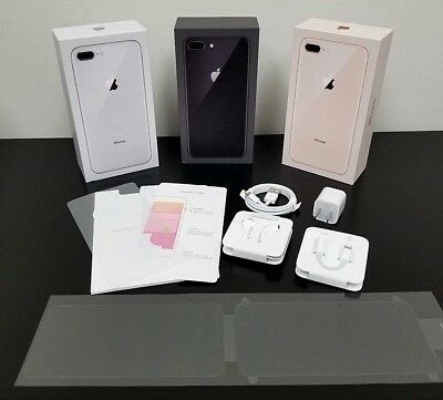 iPhone 8 8 Plus Original Box with All OEM Accessories Earpods Adapter Charger