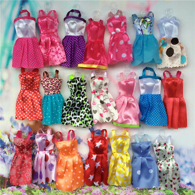 10 pcsset Fashion Party Daily Wear Dress Outfits Clothes For Doll Toys