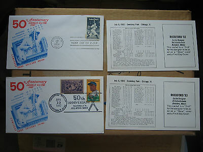 2 First Day Issue Baseball stamps-  Ruth Robinson- 1983 All-Star Game