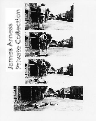 James Arness Private Collection Gunsmoke Opening Scene Prank   8 x 10  BW