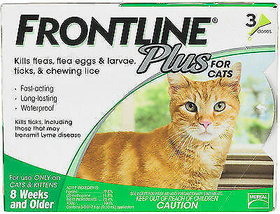 Frontline Plus For Cats 3 Doses NO BOX
