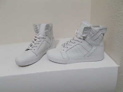 SUPRA SKYTOP 08003-116-M MENS WHITE LEATHER HIGH TOP LACE UP SNEAKERS SIZE 7