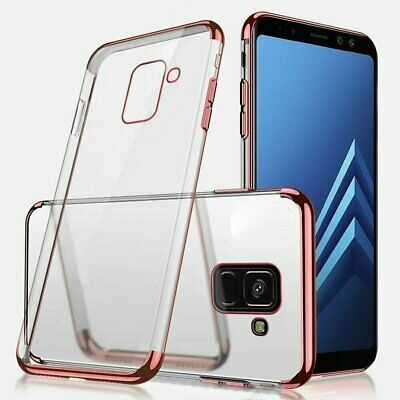 For Samsung Galaxy Note 8 9 S10 e S9 S8 Plus Hybrid Rubber Clear Slim Case Cover