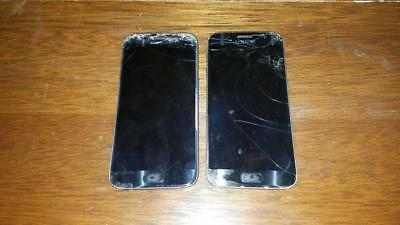 2 Samsung S7 Phones FOR PARTS REPAIR  WILL NOT TURN ON-