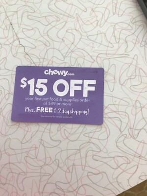 chewy-com coupon 15 off first order of 49 plus Exp-13119 Chewy Dog