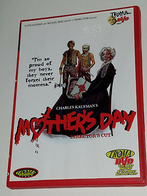 MOTHERS DAY LIKE NEW WINSERT DVD DIRECTORS CUT TROMA HORROR GORE CULT OOP