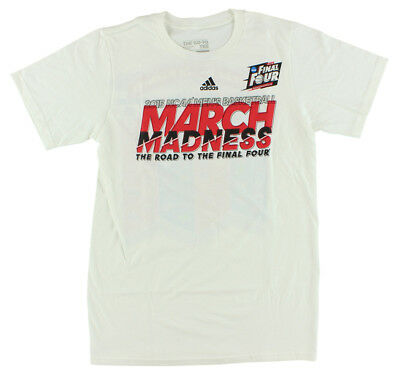 Adidas Mens 2015 March Madness Final Four T Shirt White