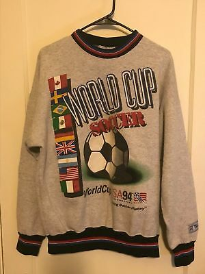 Vintage The Game World Cup Soccer 1994 Pull Over Sweater USA Size Large RARE