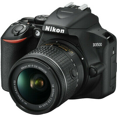 Nikon D3500 Digital SLR Camera w AF-P DX NIKKOR 18-55mm f3-5-5-6G VR Lens Black