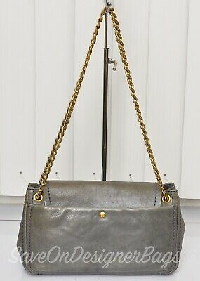 Prada Glace Calf Leather Chain Shoulder Bag Used Authentic w Dustbag e08230421bb