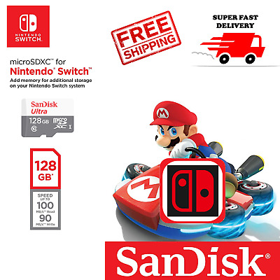 SanDisk 128 GB Nintendo Switch micro SD XC Card Class10 Flash Storage Memory USA