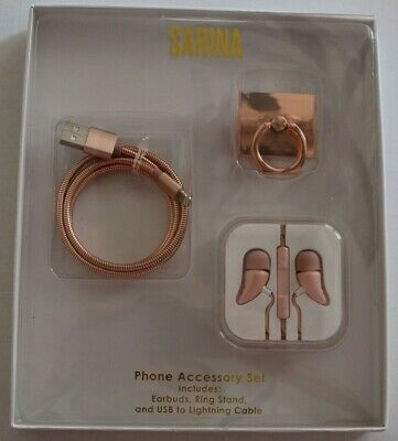 SARINA iPhone Accessory Set Earbuds Ring Stand - Lightning Cable- from Macys