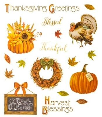 Thanksgiving Fall Harvest Blessings Autumn Scrapbook Stickers