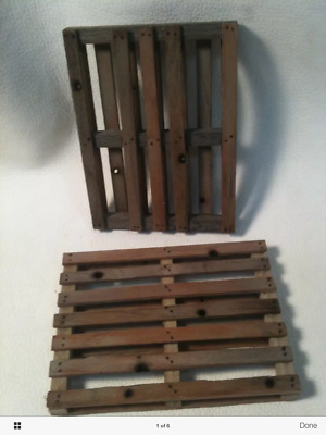 110 or 112 Scale Miniature Pallet 3 x 4 Handmade Dollhouse 6 Action Figure