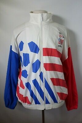 D09751 VTG ADIDAS USA WORLD CUP 1994 SOCCER Windbreaker Jacket Size L