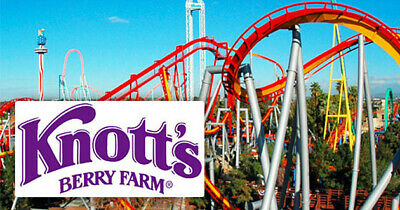 Knotts Berry Farm or Soak City General Admission 2 Two Single Day E-Tickets