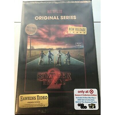 NEW Stranger Things Season 2 Blu-Ray - DVD 6 Disc Collectors Edition Set