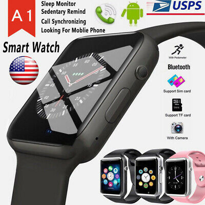 Bluetooth Smart Watch wCamera Waterproof Phone Mate for Android Samsung iPhone