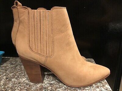 Aldo Womens Beige Genuine Suede Ankle Boots Size 8