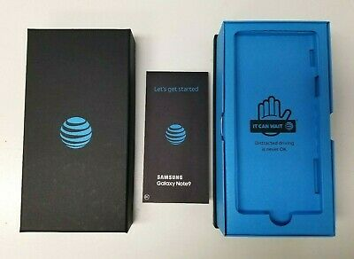 Samsung Galaxy Note 9 Box AT-T Packaging Manual Retail Accessories Option ATT