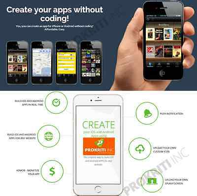 Make and Sell mobile APP without coding  online application  lifetime 5 APP