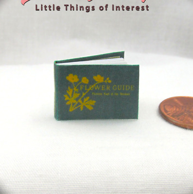 FLOWER GUIDE Miniature Dollhouse 112 Scale Readable Illustrated Book Garden