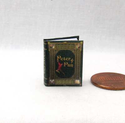 PETER PAN Dollhouse Miniature Book Color Illustrated 112 Scale Book Barrie
