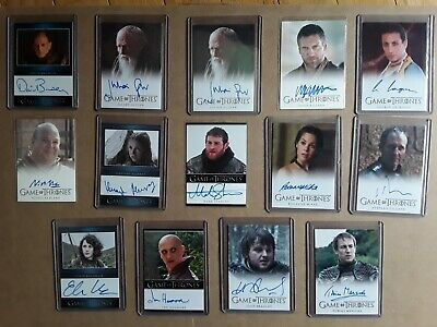 Game of Thrones Season 3 Auto Autograph Card Lot Selection Available