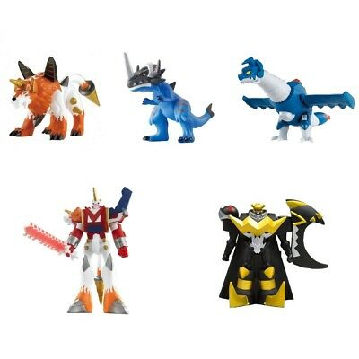 Digimon Xros Wars Sofubi Digital Monster Series Soft Vinyl Digimon Fusion 5 Set