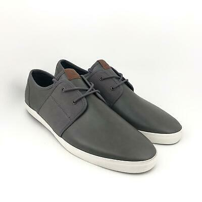 ALDO Gray Leather LookCanvas Lace Up Casual Sneakers Men's Size 13