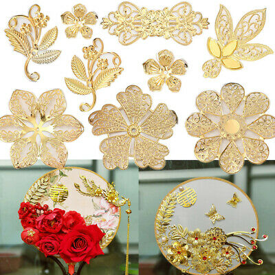 Filigree Gold Metal Beads Pendants Connector For Jewelry Making Multi Size Shape