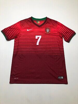 Nike 2014 Portugal FPF CRISTIANO RONALDO 7 World Cup Home Jersey Youth XL