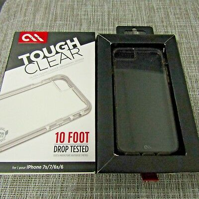 CASE MATE TOUGH CLEAR FOR APPLE IPHONE 6 6S 7 7S PLEASE READ 2826