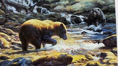 RUGER ARTIST PROOF 75 of 95 Signed LEON PARSON Bear Art Lithograph Print NOS