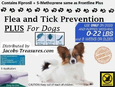 6 Months For Small Dogs 0-22lbs Generic Frontline Plus Six Applicators