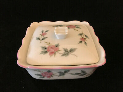 Beautiful Andre Richard Small Porcelain 4 Dish With Cover Pink Roses Japan