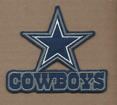 NEW 3 12 X 4 INCH DALLAS COWBOYS IRON ON PATCH FREE SHIPPING A2