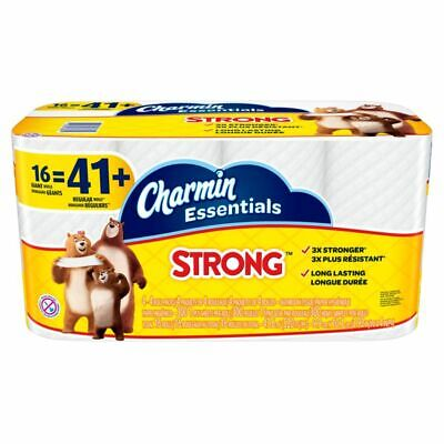Charmin Essentials Strong 1-Ply Bathroom Tissue White Pack Of 16 Rolls