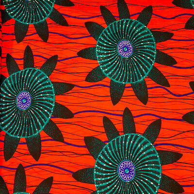 African Print Fabric 100 Cotton 44 wide sold by the yard 90174-3
