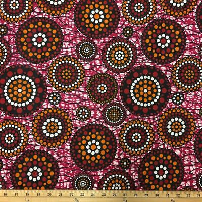 African Print Fabric 100 Cotton 44 wide sold by the yard 90119-2
