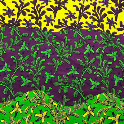 African Print Fabric 100 Cotton 44 wide sold by the yard 90202-3