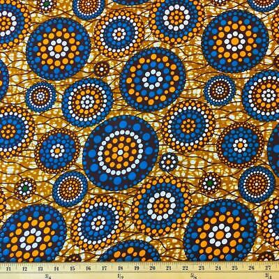 African Print Fabric 100 Cotton 44 wide sold by the yard 90119-5