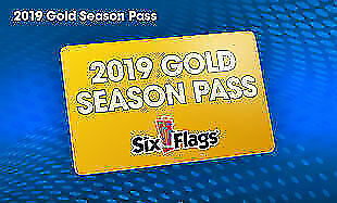 1 Gold Season Pass to SIX FLAGS Amusement Parks Including Parking