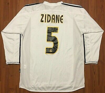 Vintage Authentic Adidas Zidane Real Madrid Long Jersey SIEMENS Mobile XL 03-04