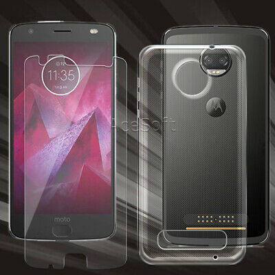 For Motorola Moto Z2 Force XT1789 9H- HD Tempered Glass Screen Protector or Case