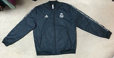 Adidas FC Real Madrid Soccer Full Zip Football Track JacketCoat Size Large Sewn