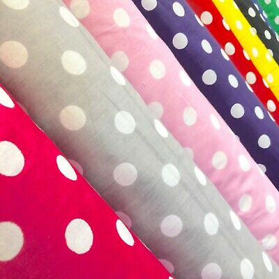Polka Dot Large Printed Fabric Colored Background 100 Cotton 4344 Wide BTY
