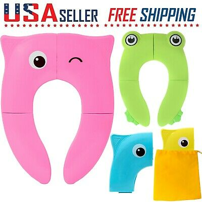 Potty Seat Training Reusable Folding Toddler Kids Baby Toilet Cover Pad Travel