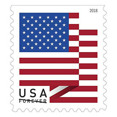 10 USPS Forever Stamps 2018 U-S- Flag Design Cheap Postage NEW
