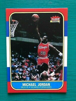 1986-1987 Fleer Michael Jordan Chicago Bulls Basketball Reprint Rookie Card 57